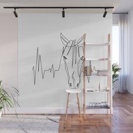 Horsebeat [Black] Wall Mural