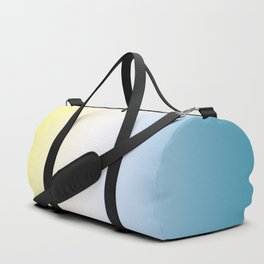 Blue White Yellow Gradient Duffle Bag