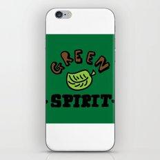 green spirit iPhone & iPod Skin
