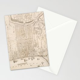 Vintage Map of Philadelphia PA (1802) Stationery Cards