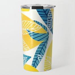 Lemon Tree / Abstract Fruit Art Travel Mug