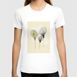 Retro Minimal Flowers T-shirt