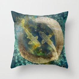 Abundance in blue Throw Pillow
