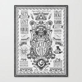Legend of Zelda inspired Deku Nuts Vintage Advertisement Canvas Print
