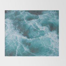Electric Ocean Throw Blanket