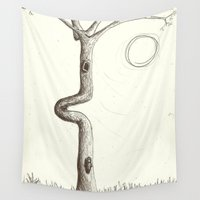 squirrel Wall Tapestries featuring Squirrel & by hankhenry