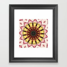 Tribal Spears and Fading Hearts Mandala Framed Art Print