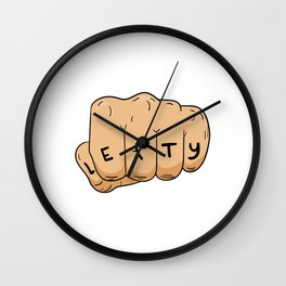 "A Lefty Tee For Left Handed People Saying ""Lefty"" T-shirt Design Uncommon Rare Unique Hard To Find Wall Clock"