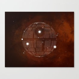 Constellation Death Star Canvas Print