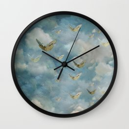 """Heaven & butterflies"" Wall Clock"