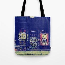 Make Art Not War Tote Bag