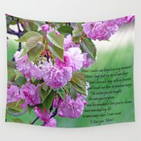 poem Wall Tapestries featuring Mother's Day Poem  by Frankie Cat