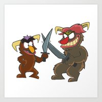 Sword Fight - Thug & Culprit Art Print