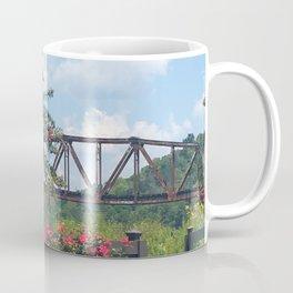Flowers by the Bridge Coffee Mug