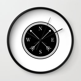 Directions \\ Abstract Compass Design Wall Clock