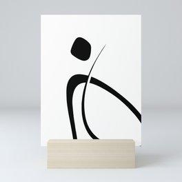 Interlocking Three - Minimalist Line Abstract Mini Art Print