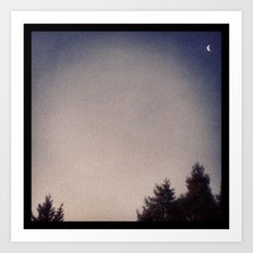 Good-bye, Moon Art Print