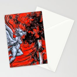 Falling Into Advancement Stationery Cards