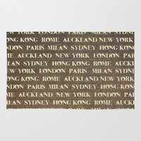 cities Area & Throw Rugs featuring Cities by Linde Townsend