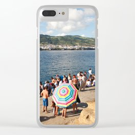 People waiting at the islet Clear iPhone Case