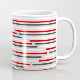 Mixed Signals Abstract - Red, Gray, Black, White Coffee Mug