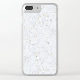 Tundra Marble Gold Mine Clear iPhone Case