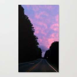 night sky of pink and blue Canvas Print
