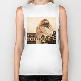Rockstar Sloth Biker Tank