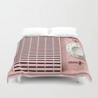 "radio Duvet Covers featuring Old Radio  by ""CVogiatzi."