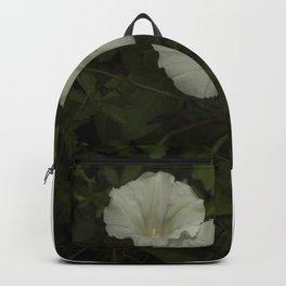 White wild flowers Backpack