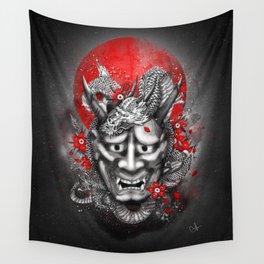 Hannya dragon mask Wall Tapestry