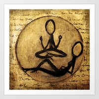 om Art Prints featuring om by woman