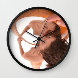 5399-KD In Love With Myself, Naked Reflection of Beauty Wall Clock