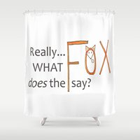 philosophy Shower Curtains featuring Deep philosophy by elisabethfryd