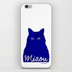 MIAOU bleu iPhone & iPod Skin