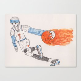 Basketball ink drawing Canvas Print