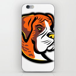 Boxer Dog Mascot iPhone Skin