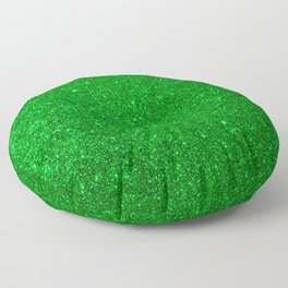 Emerald Green Shiny Metallic Glitter Floor Pillow