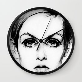 60's Eyelashes Wall Clock