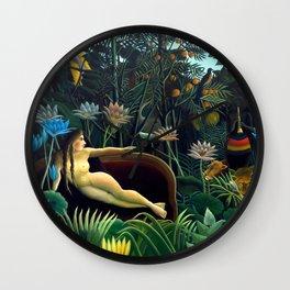 Henri Rousseau, The Dream (Le Rêve) 1910, Artwork for Wall Art, Prints, Posters, Tshirts, Men, Women, Youth Wall Clock