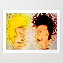 Bevis and Butthead Art Print