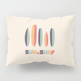 Sun & Surf Surfboards - Retro Rainbow Pillow Sham