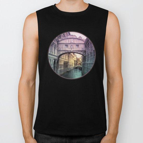 Ponte dei Sospiri | Bridge of Sighs - Venice (colored version) Biker Tank