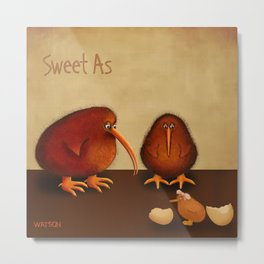 New arrival baby girl - sweet as Metal Print