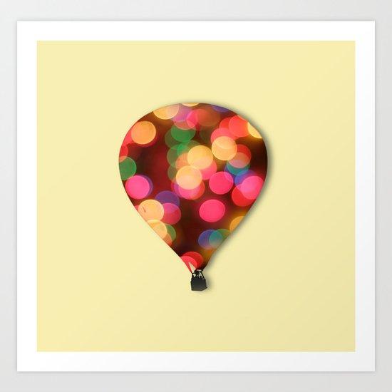 Balloon bokeh Art Print