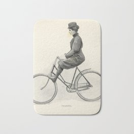 """""""Coasting"""" from """"Bicycling for Ladies"""" by Maria E. Ward, 1896 Bath Mat"""