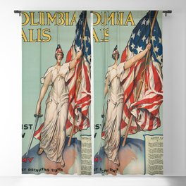 Columbia Calls - Enlist Now Blackout Curtain