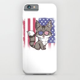 Merica Maine Coon Cat USA American Flag iPhone Case
