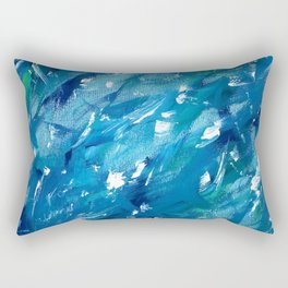 Sunlight on Lake Michigan Rectangular Pillow