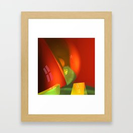 crooked room -3- Framed Art Print